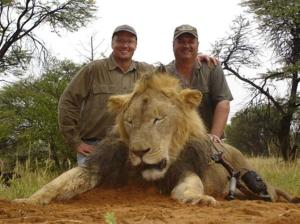 This lion, killed previously by the same man, does not have a name.  Did you hear about this lion on the news?  Source: NY Daily News